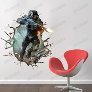3D Wall Sticker Soldier Decorative Wall Covering PVC Washable 3D Wall Art