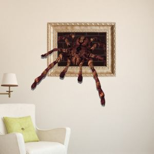 3D Wall Sticker Spider Decorative Wall Covering PVC Washable 3D Wall Art