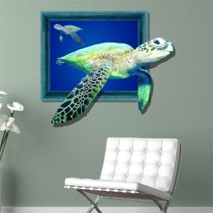 3D Wall Sticker Sea Fish Decorative Wall Covering PVC Washable 3D Wall Art