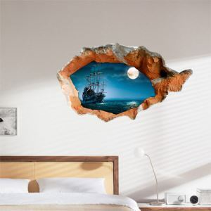 3D Wall Sticker Scenery Decorative Wall Covering PVC Washable 3D Wall Art