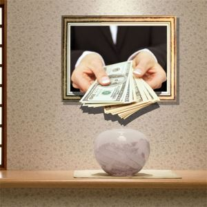 3D Wall Sticker Money Decorative Wall Covering PVC Washable 3D Wall Art