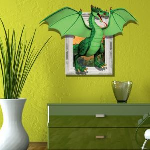 3D Wall Sticker Herbivorous Dinosaur Decorative Wall Covering PVC Washable 3D Wall Art