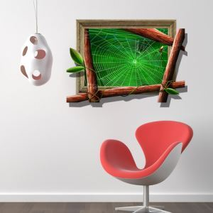 3D Wall Sticker Cobweb Decorative Wall Covering PVC Washable 3D Wall Art