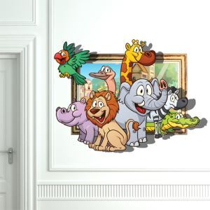 3D Wall Sticker Family Decorative Wall Covering PVC Washable 3D Wall Art