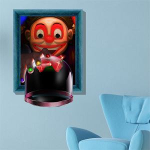 3D Wall Sticker Magic Cup Decorative Wall Covering PVC Washable 3D Wall Art