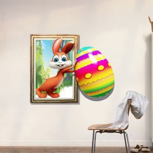 3D Wall Sticker Rabbit Decorative Wall Covering PVC Washable 3D Wall Art