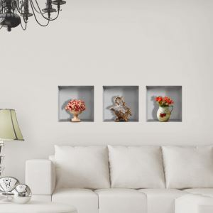 3D Wall Sticker Decorative Wall Covering PVC Washable 3D Wall Art