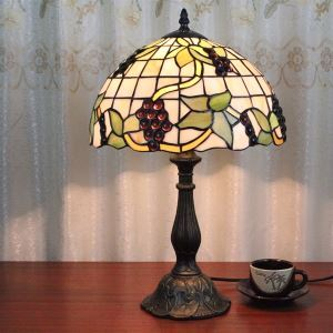 Tiffany-style Grape Bronze Finish Table Lamp(0923-TF11)