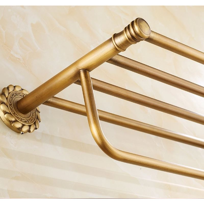 Bathroom Towel Bars European Vintage Bathroom Accessories Tower Rack Antique Brass Towel Bar