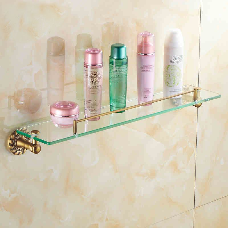 Lastest Vintage Tempered Glass Shelf  Bathroom Shelves  Bathroom Accessories