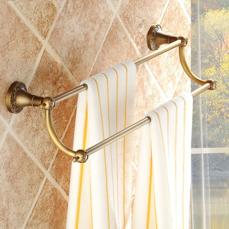 Bathroom towel bars european vintage bathroom - Bathroom towel holders accessories ...