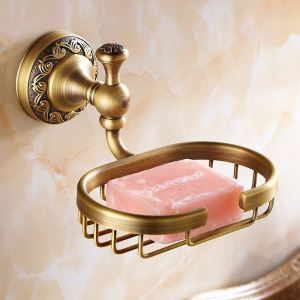 European Vintage Bathroom Accessories Antique Brass Soap Holder