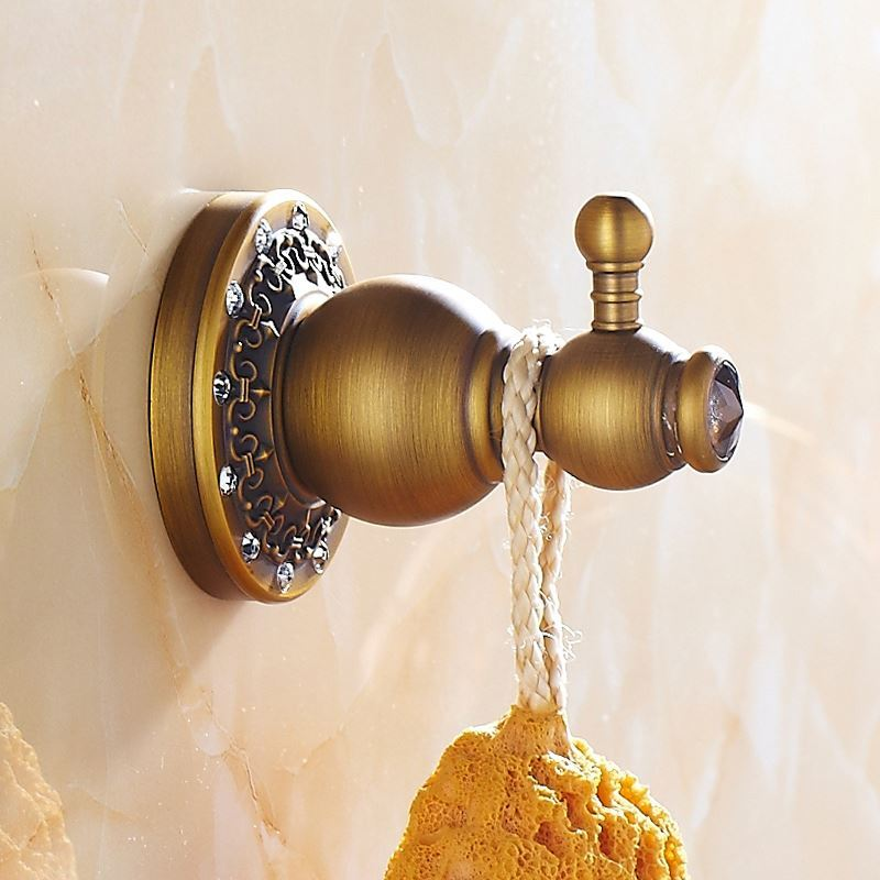 Bathroom robe hooks european vintage bathroom for Vintage bathroom accessories