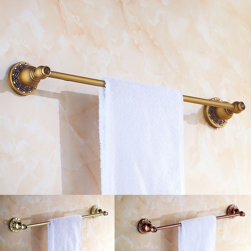 Bathroom Towel Bars European Vintage Bathroom Accessories Antique Brass Towel Rack Towel Bar