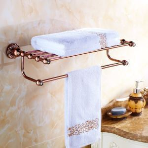 European Country Bathroom Accessories Rosy Gold Towel Rack Towel Bar