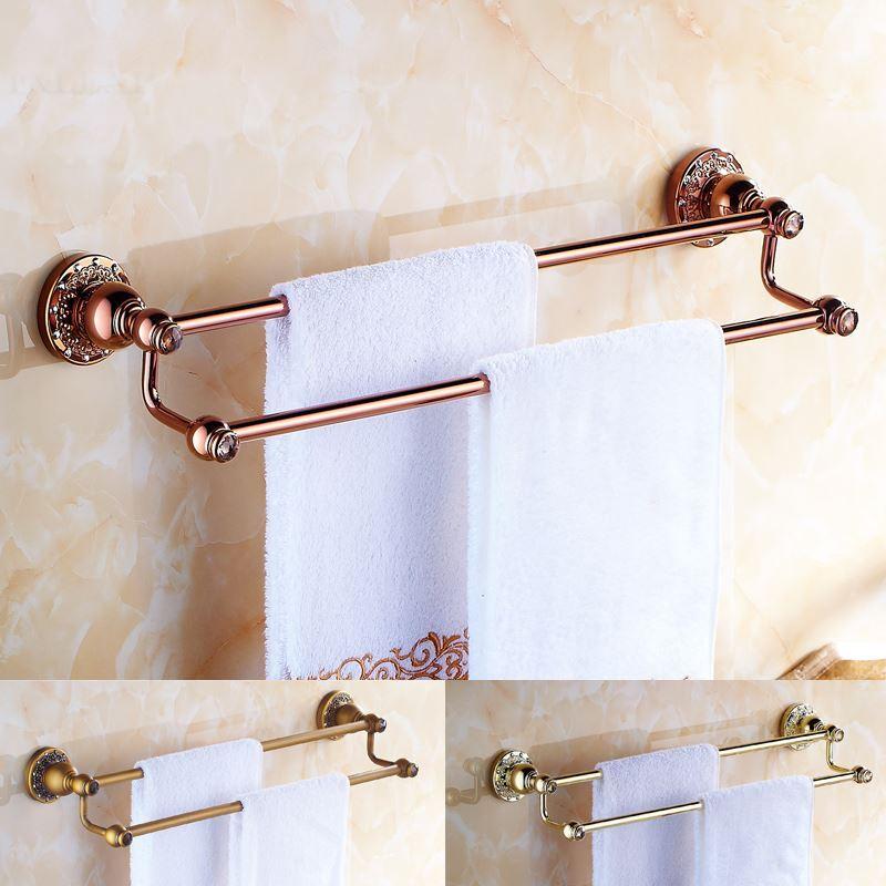 Bathroom towel bars european country bathroom accessories towel rack rosy gold towel bar - Bathroom accessories towel bars ...