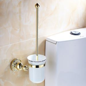 Modern Bathroom Accessories Ti-PVD Brass Toilet Brush Holder