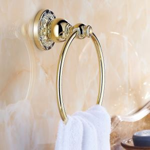Modern Bathroom Accessories Ti-PVD Brass Towel Ring