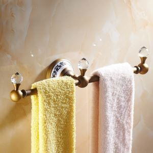 European Vintage Bathroom Accessories Antique Brass Towel Rack Towel Bar