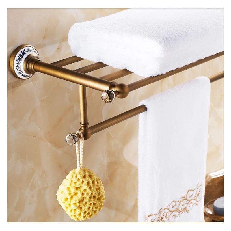 Bathroom towel bars european vintage bathroom for Rack for bathroom accessories
