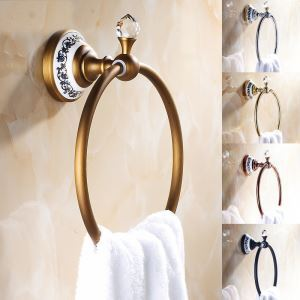 European Vintage Bathroom Accessories Antique Brass Towel Ring