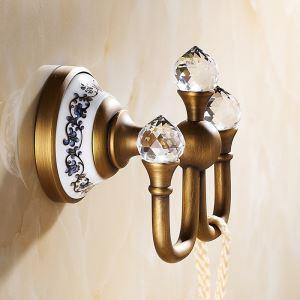 Vintage Bathroom Accessories Antique Brass Robe Hook