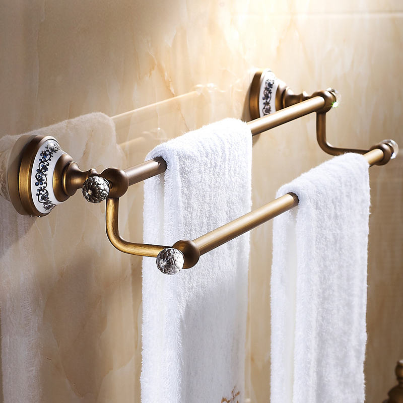 bathroom towel bars european vintage bathroom accessories towel rack antique brass towel bar. Black Bedroom Furniture Sets. Home Design Ideas
