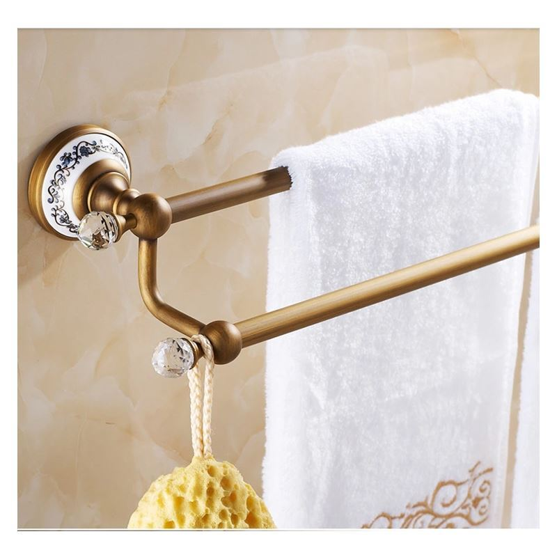 Bathroom Towel Bars European Vintage Bathroom Accessories Towel Rack Antique Brass Towel Bar