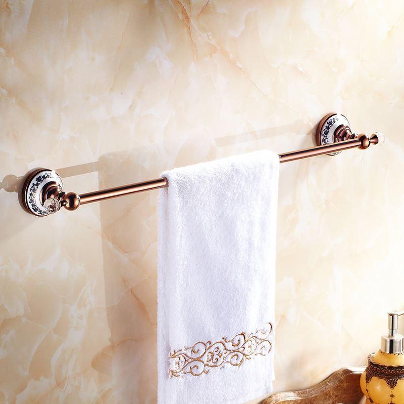 Bathroom towel bars european country bathroom accessories rosy gold towel rack towel bar - Bathroom accessories towel bars ...