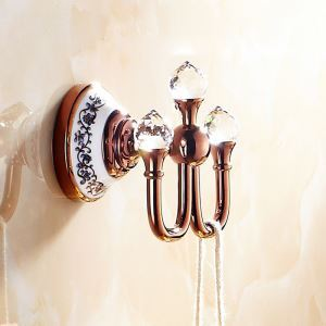 Europen Country Bathroom Accessories Rosy Gold Robe Hook