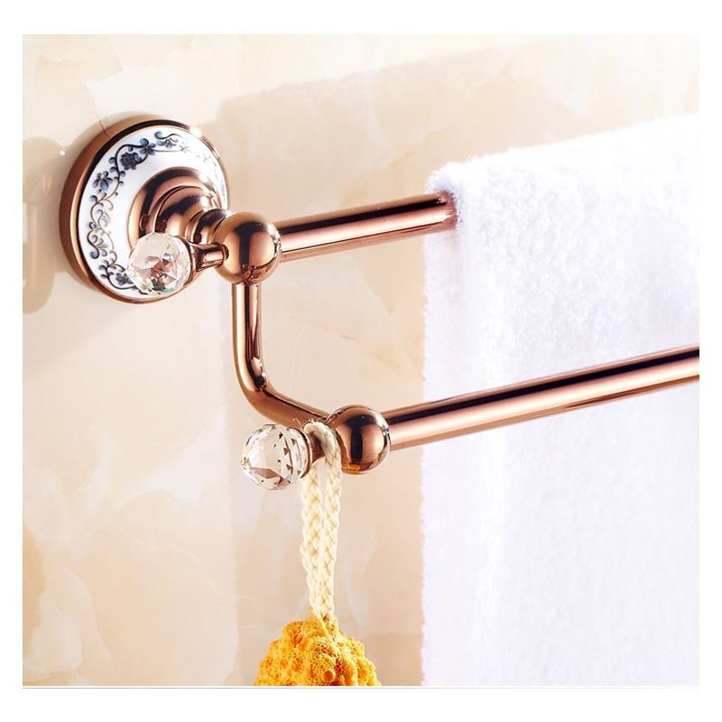 Bathroom Towel Bars European Country Bathroom Accessories Rosy Gold Towel Rack Towel Bar