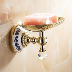 Modern Bathroom Accessories Ti-PVD Brass Soap Holder