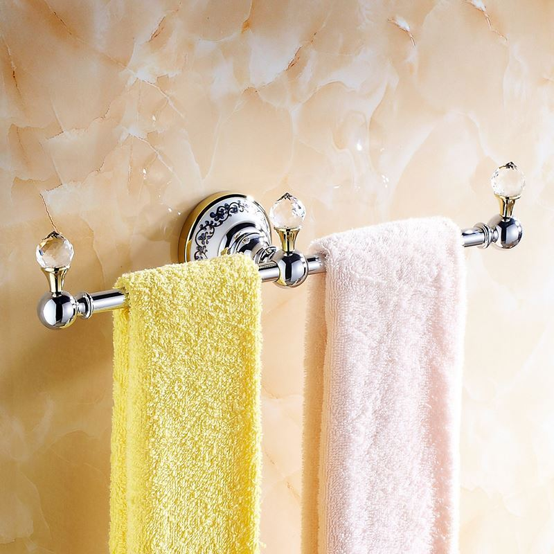 Bathroom Towel Bars Modern Bathroom Accessories Electroplated Towel Rack Brass Towel Bar