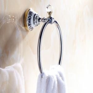 Modern Bathroom Accessories Electroplated Brass Towel Ring