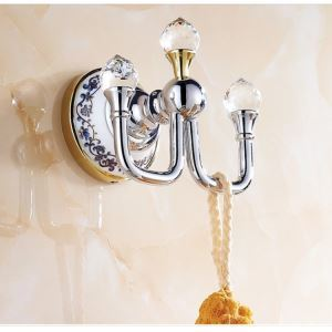 Modern Bathroom Accessories Electroplated Brass Robe Hook