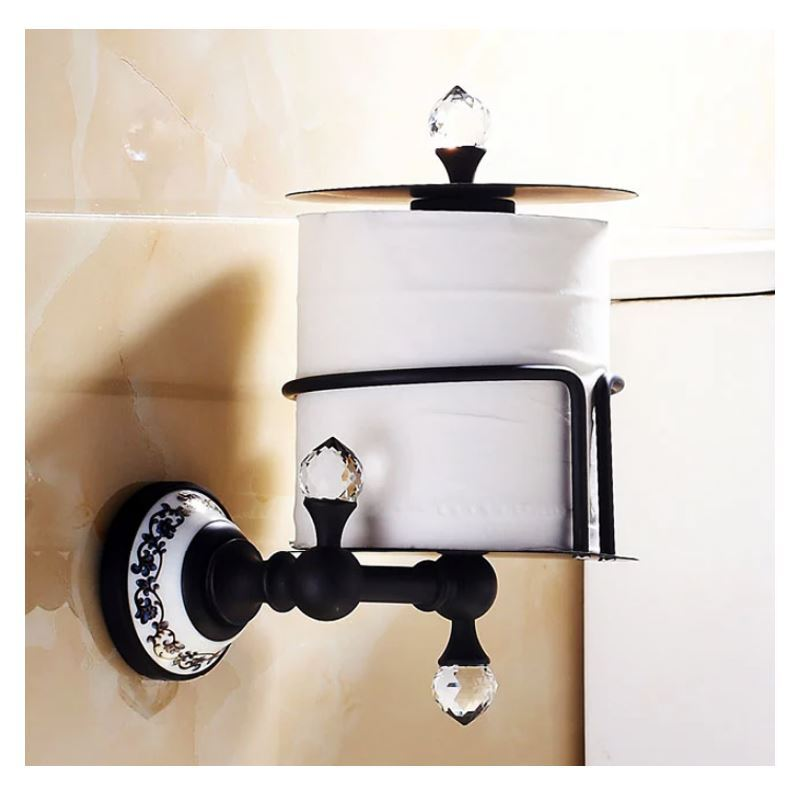 Bathroom toilet roll holders vintage bathroom for Bathroom accessories toilet roll holder