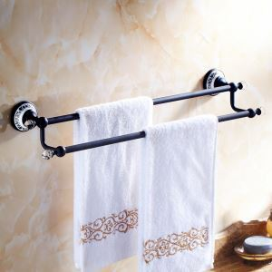 Vintage Bathroom Accessories ORB Towel Rack Brass Towel Bar