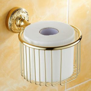 Modern Bathroom Accessories Ti-PVD Toilet Roll Holder Brass Paper Holder