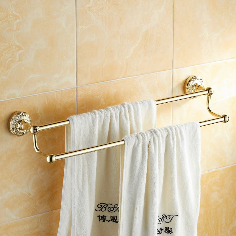 Bathroom Towel Bars Modern Bathroom Accessories Ti Pvd Towel Rack Brass Towel Bar