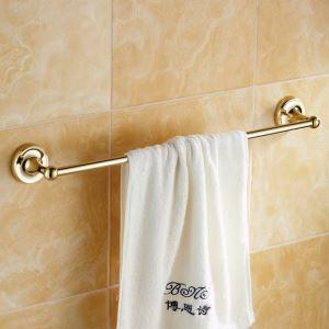 Modern Bathroom Accessories Ti-PVD Towel Rack Brass Towel Bar