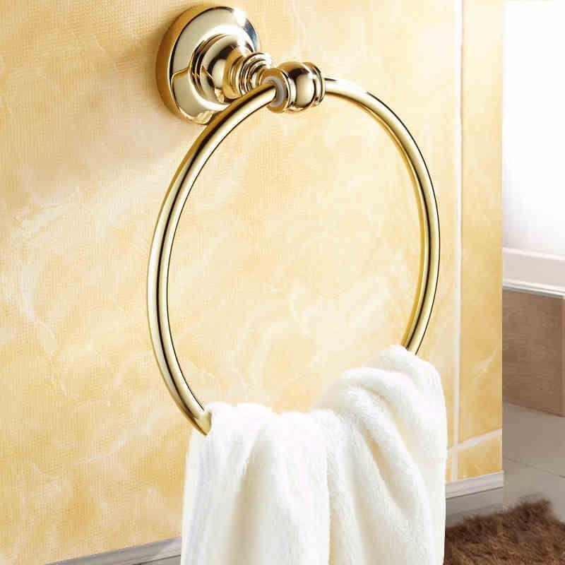 bathroom towel rings modern bathroom accessories ti pvd brass towel ring