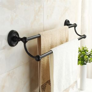Oil Rubbed Bronze 25 Inch Double Towel Bar