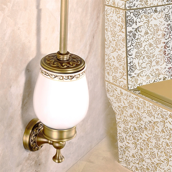 Bathroom Toilet Brush Holder European Vintage Bathroom