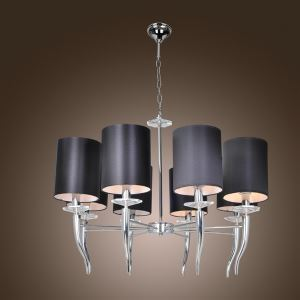 Stylish Classic Chandelier Chrome Crystal Living Room Bedroom Pendant Light