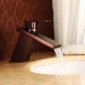 Antique Oil-rubbed Bronze Single Handle Sink Tap Single Installation Hole Bathroom Sink Faucet