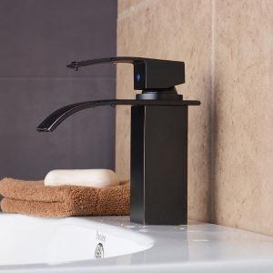 Antique Sink Tap Single Installation Hole Single Handle Oil-rubbed Bronze Bathroom Sink Faucet