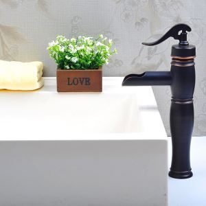 Antique Sink Tap Single Handle Oil-rubbed Bronze Bathroom Sink Faucet