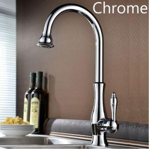 Gooseneck Kitchen Tap Single Handle Kitchen Sink Faucet