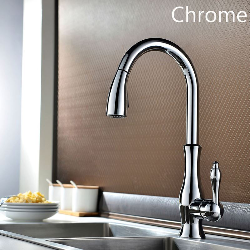 Antique Kitchen Faucet Single Installation Hole Kitchen Pull-out Tap ...