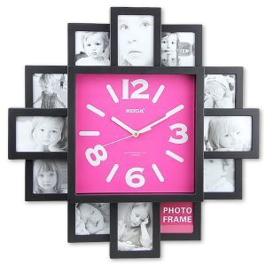 wall clock with fashion picture frame function design